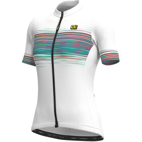 Alé Cycling Solid Start Fietsshirt korte mouwen Dames, white/emerald
